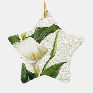 Beautiful Calla Lilies Ceramic Ornament