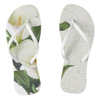 Beautiful Calla Lilies Flip Flops