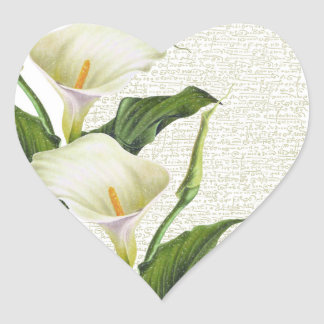 Beautiful Calla Lilies Heart Sticker