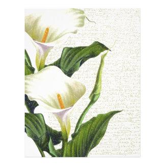 Beautiful Calla Lilies Letterhead