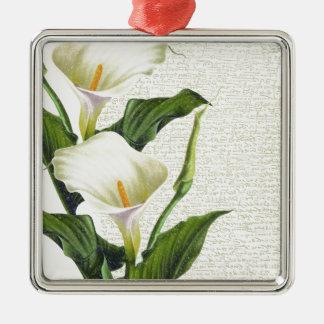 Beautiful Calla Lilies Metal Ornament