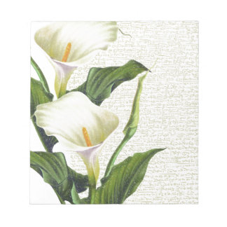 Beautiful Calla Lilies Notepads