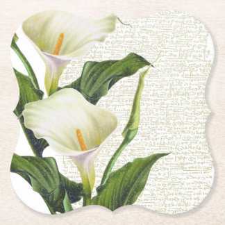 Beautiful Calla Lilies Paper Coaster