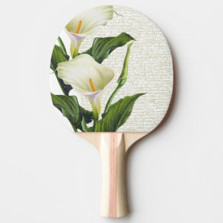 Beautiful Calla Lilies Ping Pong Paddle