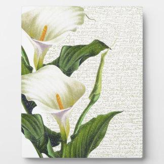Beautiful Calla Lilies Plaque