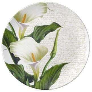 Beautiful Calla Lilies Plate