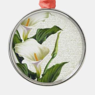Beautiful Calla Lilies Silver-Colored Round Ornament