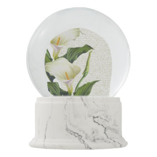 Beautiful Calla Lilies Snow Globe