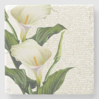 Beautiful Calla Lilies Stone Coaster