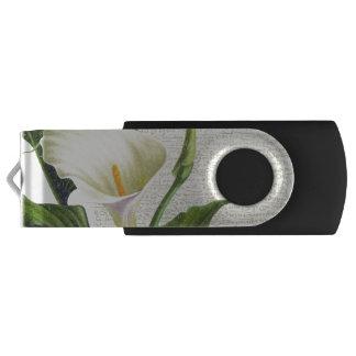 Beautiful Calla Lilies Swivel USB 3.0 Flash Drive