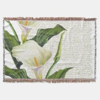 Beautiful Calla Lilies Throw Blanket