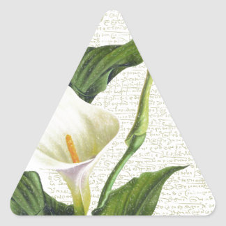 Beautiful Calla Lilies Triangle Sticker
