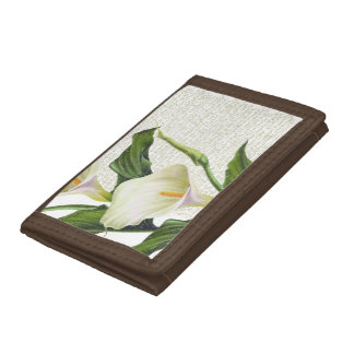Beautiful Calla Lilies Trifold Wallets