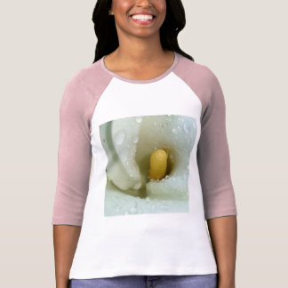 Beautiful Calla Lily Flower Macro with Morning Dew T-Shirt