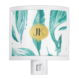 Beautiful Calming Mint Floral Nite Light