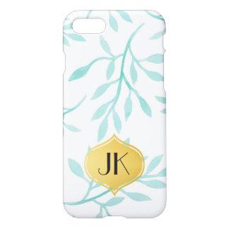 Beautiful Calming Mint Phoenix & Feathers iPhone 8/7 Case