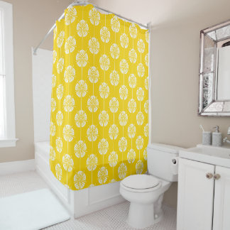 Beautiful Canary Yellow and White Floral Pattern
