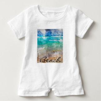 Beautiful Cancun Beach - Digital Watercolor Baby Romper