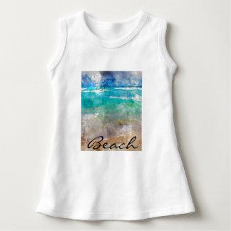 Beautiful Cancun Beach - Digital Watercolor Dress