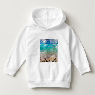 Beautiful Cancun Beach - Digital Watercolor Hoodie