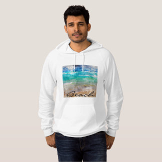 Beautiful Cancun Beach - Digital Watercolor Hoodie
