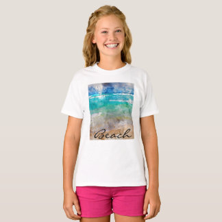 Beautiful Cancun Beach - Digital Watercolor T-Shirt