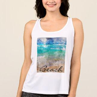 Beautiful Cancun Beach - Digital Watercolor Tank Top