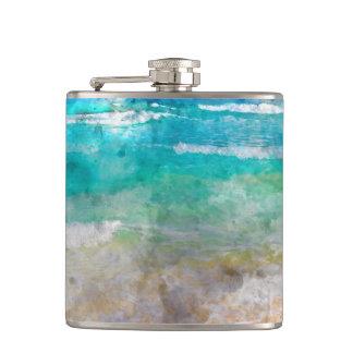 Beautiful Cancun Beach Flask