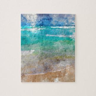 Beautiful Cancun Beach - Watercolor Puzzle