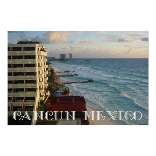 Beautiful Cancun Ocean View Poster