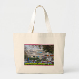 Beautiful cannought place newdelhi capital India Large Tote Bag