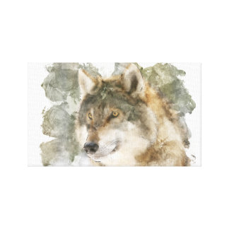 Beautiful Canvas Watercolor Wolf