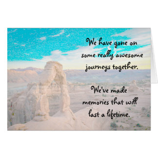 Beautiful Canyon Landscape Memories Friendship Card