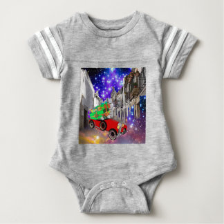 Beautiful car plenty of gifts under starry night baby bodysuit
