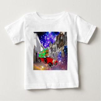 Beautiful car plenty of gifts under starry night baby T-Shirt