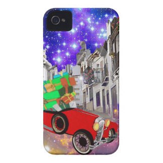 Beautiful car plenty of gifts under starry night Case-Mate iPhone 4 case