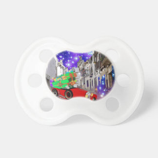 Beautiful car plenty of gifts under starry night pacifier