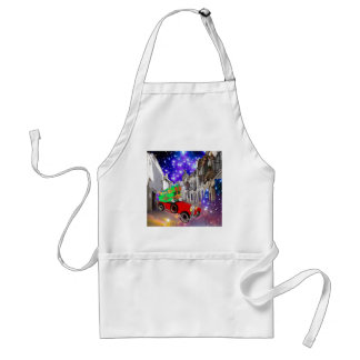 Beautiful car plenty of gifts under starry night standard apron