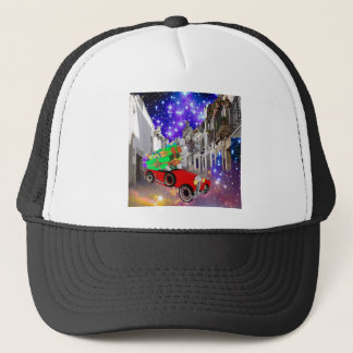 Beautiful car plenty of gifts under starry night trucker hat