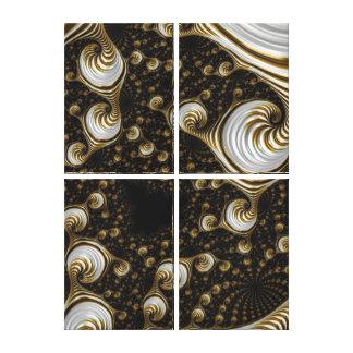 Beautiful Caramel Cream Fractal Gallery Wrap Canvas