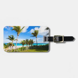 Beautiful Caribbean beach Luggage Tag