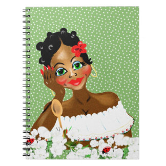 Beautiful Caribbean Cook Nana illustration gifts Notebook
