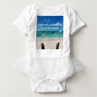 Beautiful Caribbean Waters Humorous Quote Baby Bodysuit