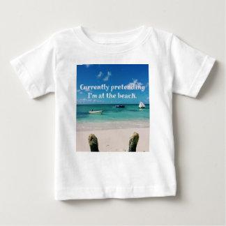 Beautiful Caribbean Waters Humorous Quote Baby T-Shirt