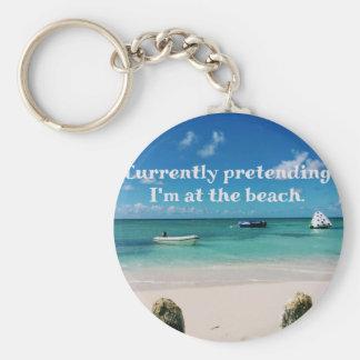 Beautiful Caribbean Waters Humorous Quote Keychain