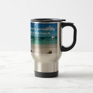 Beautiful Caribbean Waters Humorous Quote Travel Mug