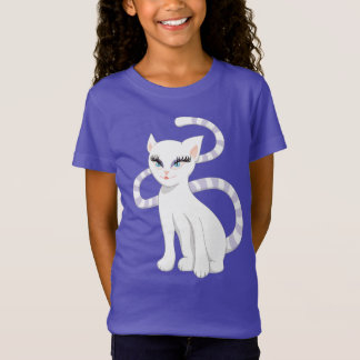 Beautiful Cartoon White Cat T-Shirt