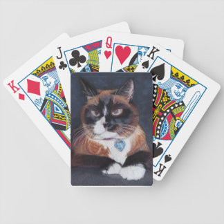 Beautiful Cat Bicycle Playing Cards