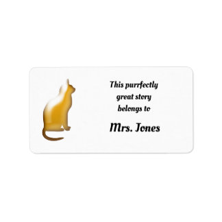 Beautiful Cat Lovers Purrfect Book Ownership Label