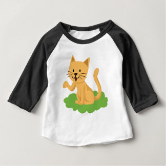 beautiful cat meowing and waving baby T-Shirt